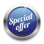 Big special offer button — Stock Vector