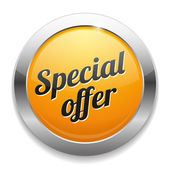 Big yellow special offer button — Stockvektor