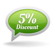 5 percent off speech bubble — Stock Vector
