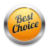 Big Best Choice button — Stock Vector