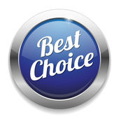 Big Best Choice button — Stock Vector