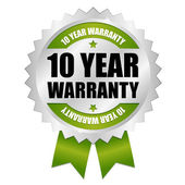 10 year warranty seal — Stock Vector