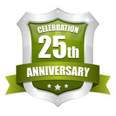 25 years anniversary button — Stock Vector