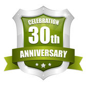 35 years anniversary button — Stock Vector