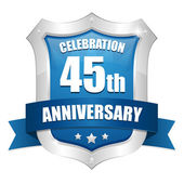 45 years anniversary button — Stock Vector