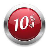 10 percent off speech bubble — Stock Vector