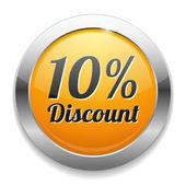 10 percent discount speech bubble — Stock Vector