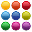 Colorful glossy buttons — Stock Vector