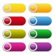 Colorful glossy buttons — Stock Vector #28521559
