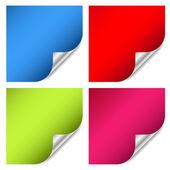 Etiqueta engomada de la página web colorido — Vector de stock