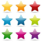 Colorful star button set — Stock Vector