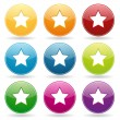Colorful star button set — Stock Vector #28710747