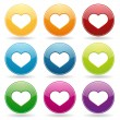 Colorful heart set — Stock Vector #28711213