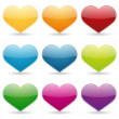 Colorful heart set — Stock Vector