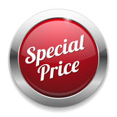 Botão grande vermelho preço especial — Vetor de Stock