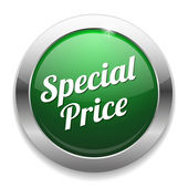 Big green special price button — Stockvektor