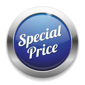 Big blue special price button — Stockvektor