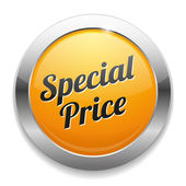 Big yellow special price button — Stockvektor