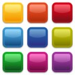 Colorful glossy square buttons — Stock Vector #29145389