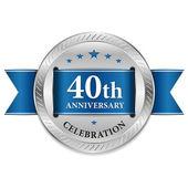 40 year anniversary seal — Stock Vector