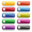 Colorful long round buttons — Stock Vector #30423291