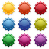 Colorful star buttons — Stock Vector
