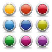 Colorful round buttons — Stock Vector