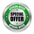 Round special offer button — Image vectorielle