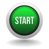 Big green start button — Stock Vector