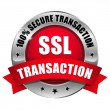 Red SSL Secure transaction button — Stock Vector