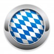 Metallic Oktoberfest button — Stock Vector