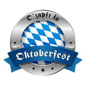 Oktoberfest tlačítko — Stock vektor
