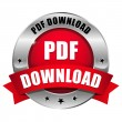 Red PDF download button — Stock Vector