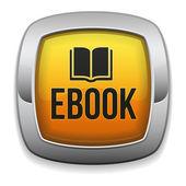 Ebook carré jaune bouton — Vecteur