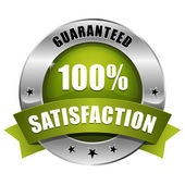Green hundred percent satisfaction seal — Wektor stockowy