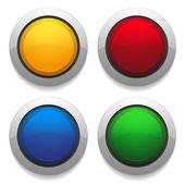 Kolorowy okrągły przyciski — Wektor stockowy