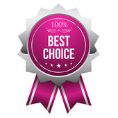 Best choice button — Stock Vector