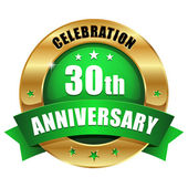 30 years anniversary button — Stock Vector