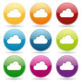 кнопки цветные облака — Cтоковый вектор