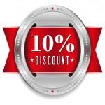 Ten percent discount button — Stock Vector #32042805