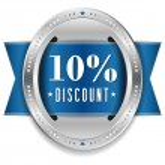 Ten percent discount button — Stock Vector #32042821