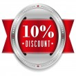 Ten percent discount button — Stock Vector