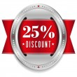 Twenty-five percent discount button — Stock Vector #32042859