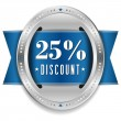 Stock Vector: Twenty-five percent discount button