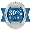 Thirty percent discount button — Stock Vector #32042887