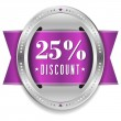 Twenty-five percent discount button — Stock Vector #32042895