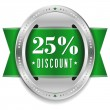 Twenty-five percent discount button — Stock Vector #32042901