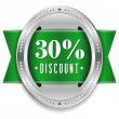 Stock Vector: Thirty percent discount button