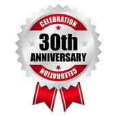 30 Anniversary seal — Stock Vector