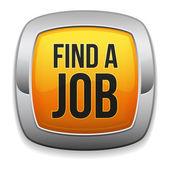 Żółty znaleźć buuton pracy — Wektor stockowy